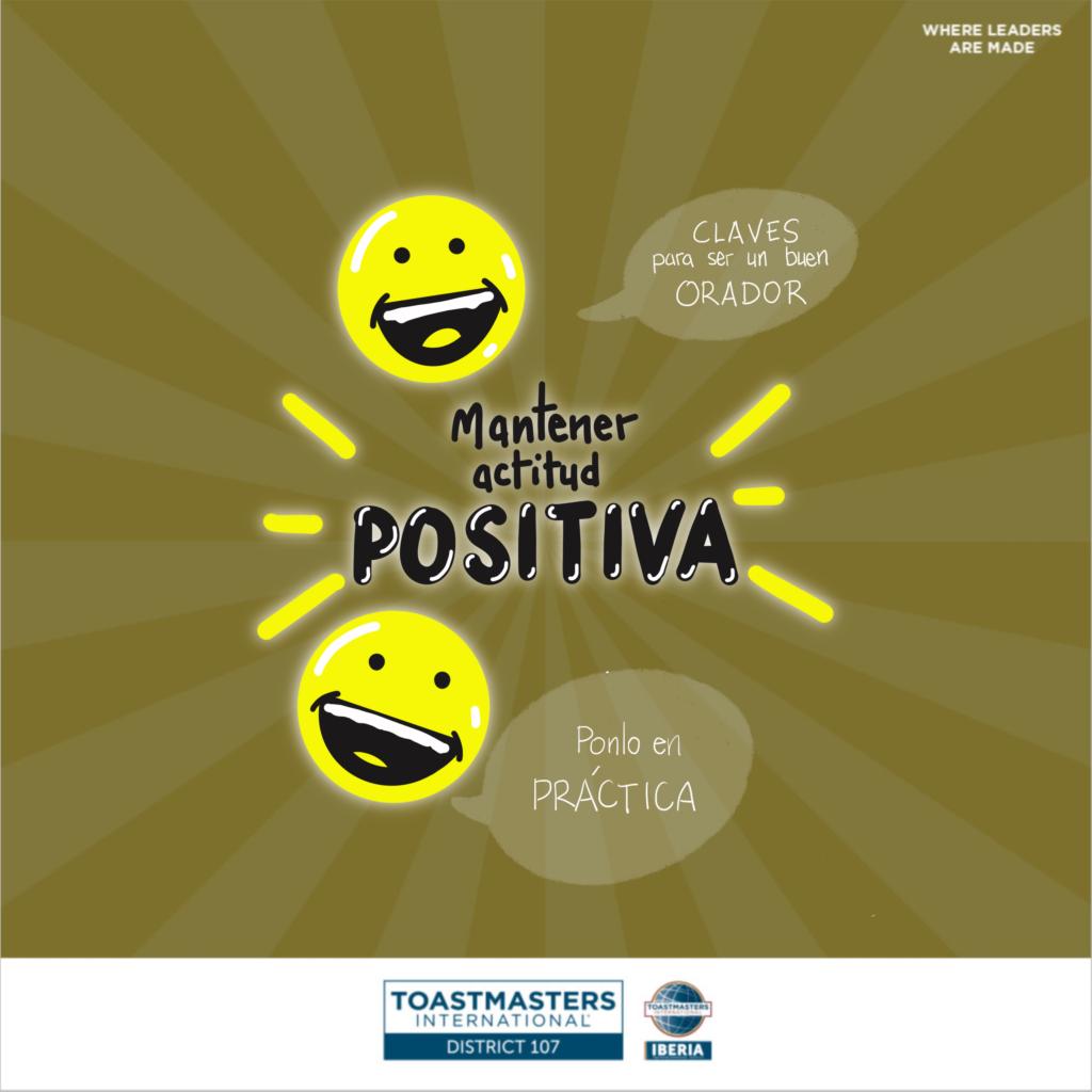 Mantener actitud positiva