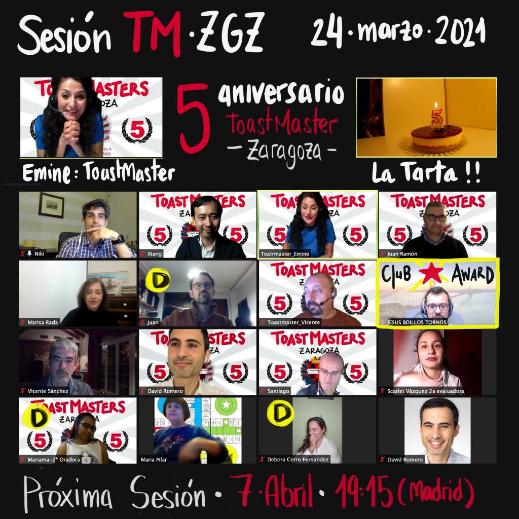 Sesión Quinto Aniversario - 24 de Marzo de 2021